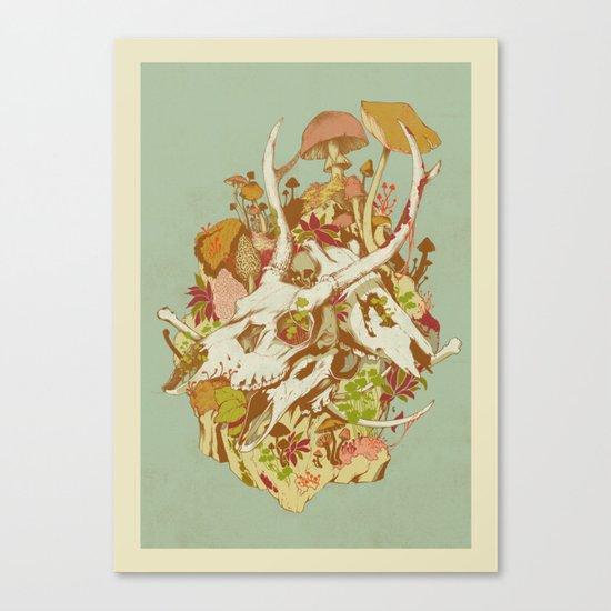 skulls in spring Canvas Print