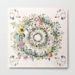 Circle of life- floral Metal Print