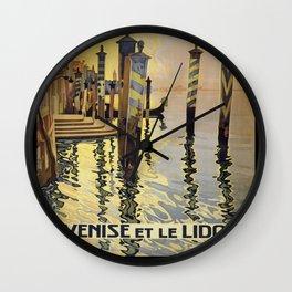 Vintage poster - Venise et le Lido Wall Clock