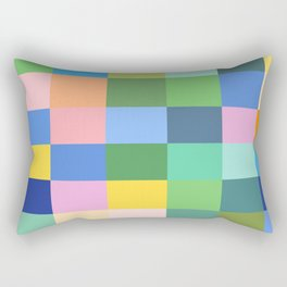Shades of Spring Green Rectangular Pillow