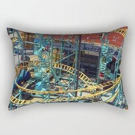 Santa Cruz Beach Boardwalk Undertow Rollercoaster Rectangular Pillow