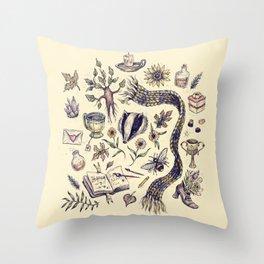 Hufflepuff, Loyal and True Throw Pillow