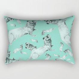 Mink in Bleu (pattern) Rectangular Pillow