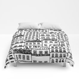 Paris Rooftops Sketch Comforters