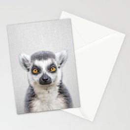 Lemur 2 - Colorful Stationery Cards