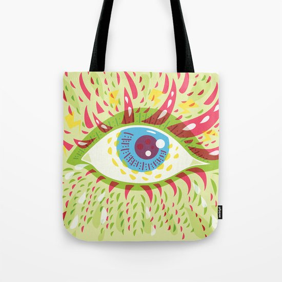 Front Looking Psychedelic Eye Tote Bag