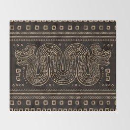 Aztec Double-headed serpent Throw Blanket