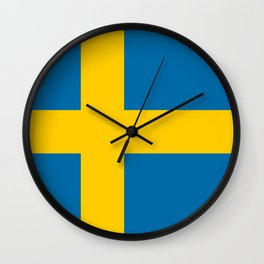 Flag of Sweden - Authentic (High Quality Image) Wall Clock