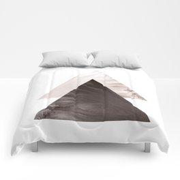 Minimal Scandinavian Triangle Print Comforters
