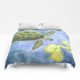 The Sea Turtle and Sea Nymph Comforters