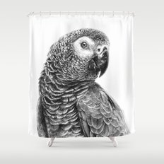 Gray Parot G083 Shower Curtain