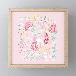 Organic Nature - Colourful Doodle Pattern 4 Framed Mini Art Print