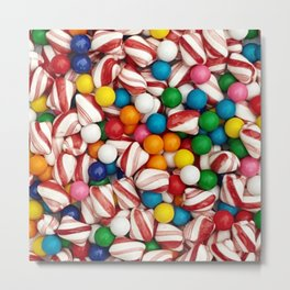 Peppermints and Gumballs Metal Print