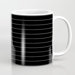 Black White Pinstripe Minimalist Coffee Mug