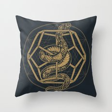 SACRED SERPENT Throw Pillow