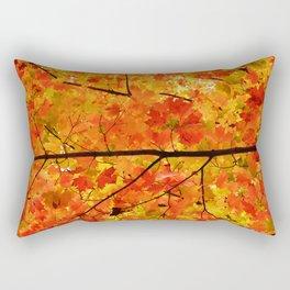 Sugar Maple Leaves in the Fall Light Rectangular Pillow