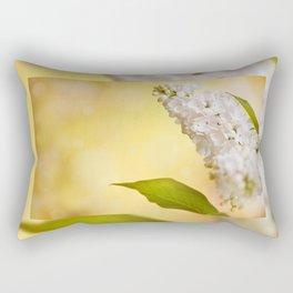 White Syringa vulgaris or lilac Rectangular Pillow