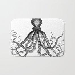 Octopus | Black and White Bath Mat