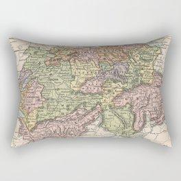 Vintage Map of Switzerland (1882) Rectangular Pillow