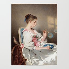 lorde in 'blowing bubbles' by charles joshua chaplin, 1881 Poster