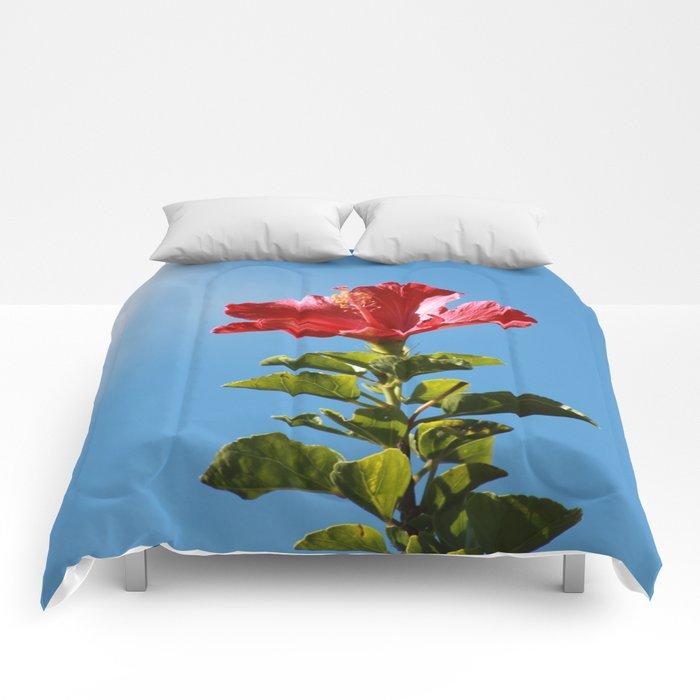 Hibiscus flower Comforters