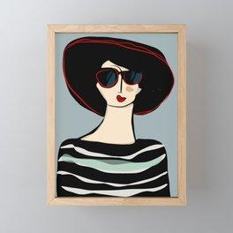Mademoiselle Framed Mini Art Print