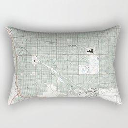 Tucson Arizona Map (1992) Rectangular Pillow