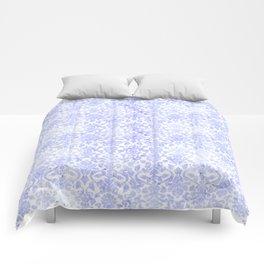Periwinkle Damask Comforters