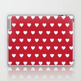 Polka Dot Hearts - red and white Laptop & iPad Skin