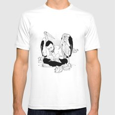 birdmaker print White MEDIUM Mens Fitted Tee