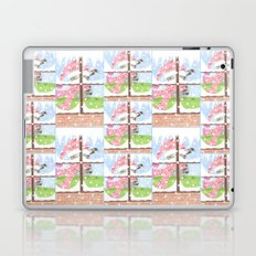 Christmas Tabby cat looking out the window Laptop & iPad Skin