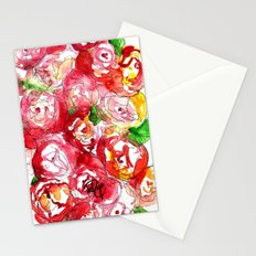 Cherry Peonies Stationery Cards