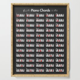 Piano Chords Serving Tray
