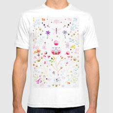 Mari White LARGE Mens Fitted Tee