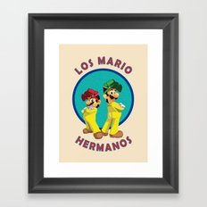 Los Mario Hermanos Framed Art Print