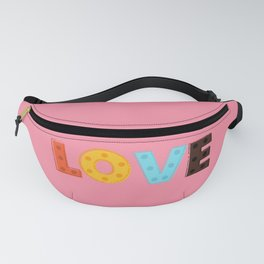 happy LOVE - typography Fanny Pack