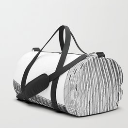 modern style buildings at Las Vegas, USA in black and white Duffle Bag