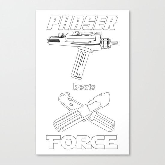 Force beats Phaser Canvas Print