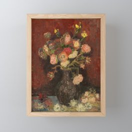Van Gogh - Vase with Chinese Asters and Gladioli Framed Mini Art Print