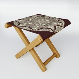 Maroon Mandala Folding Stool