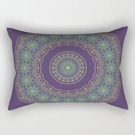 Lotus Mandala in Dark Purple Rectangular Pillow