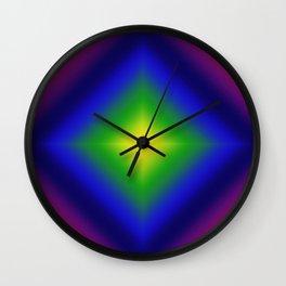 Rainbow Gradient Diamond Geometric Wall Clock