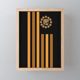 Tiger - Flag Framed Mini Art Print