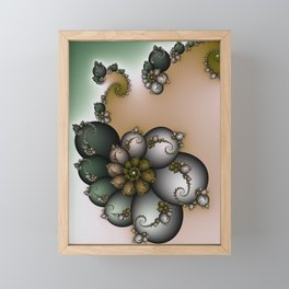 Trinket Flower Fractal Framed Mini Art Print