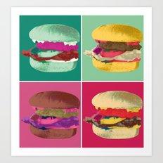 Pop Art Burger #2 Art Print