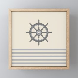 AFE Gray Helm Wheel Framed Mini Art Print