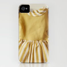 Doll Closet Series - Mustard Stripe Dress Slim Case iPhone (4, 4s)