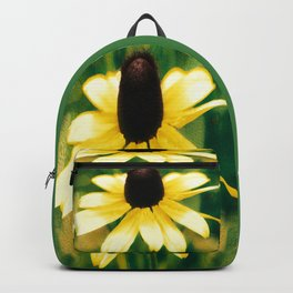 Vibrant Yellow Coneflower Backpack