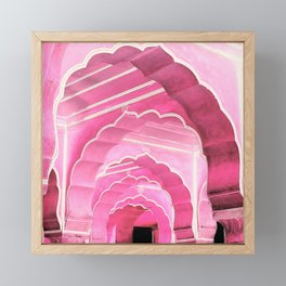 Amber Fort Jaipur Pink Mood Framed Mini Art Print