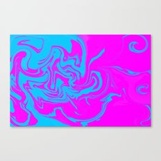 Blue and pink swirls  Canvas Print